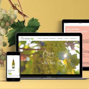 Site Internet du Domaine de Bois Mozé - Coutures, Brissac Loire Aubance