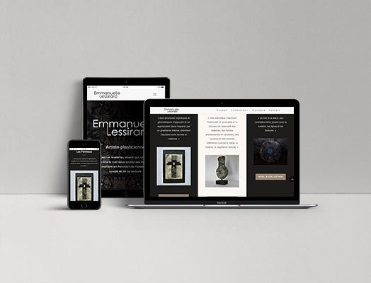 Site internet d'Emmanuelle Lessirard, artiste peintre et sculpteur