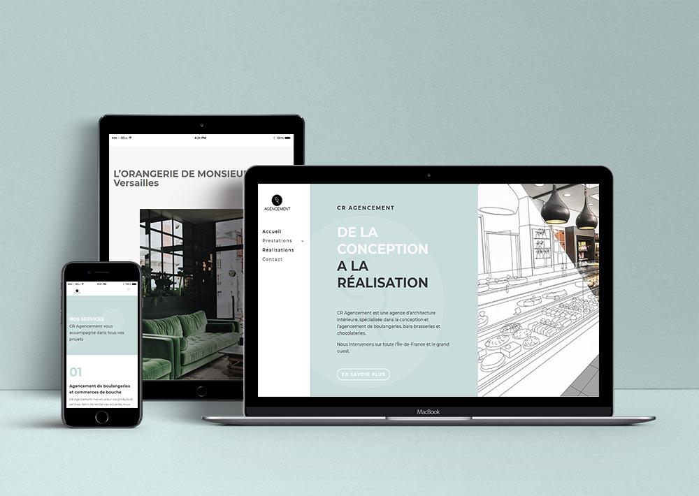 Site internet de CR Agencement