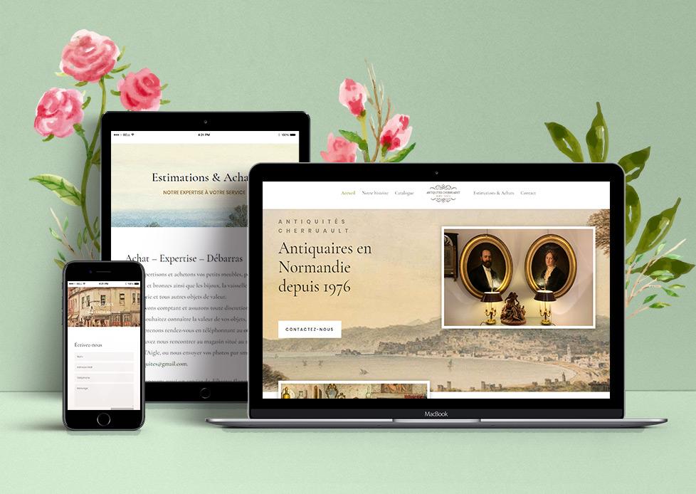 Site internet des Antiquités Cherruault