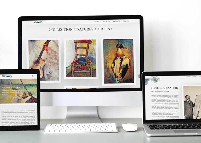 Galerie du peintre Gaston Alexandre - site responsive design