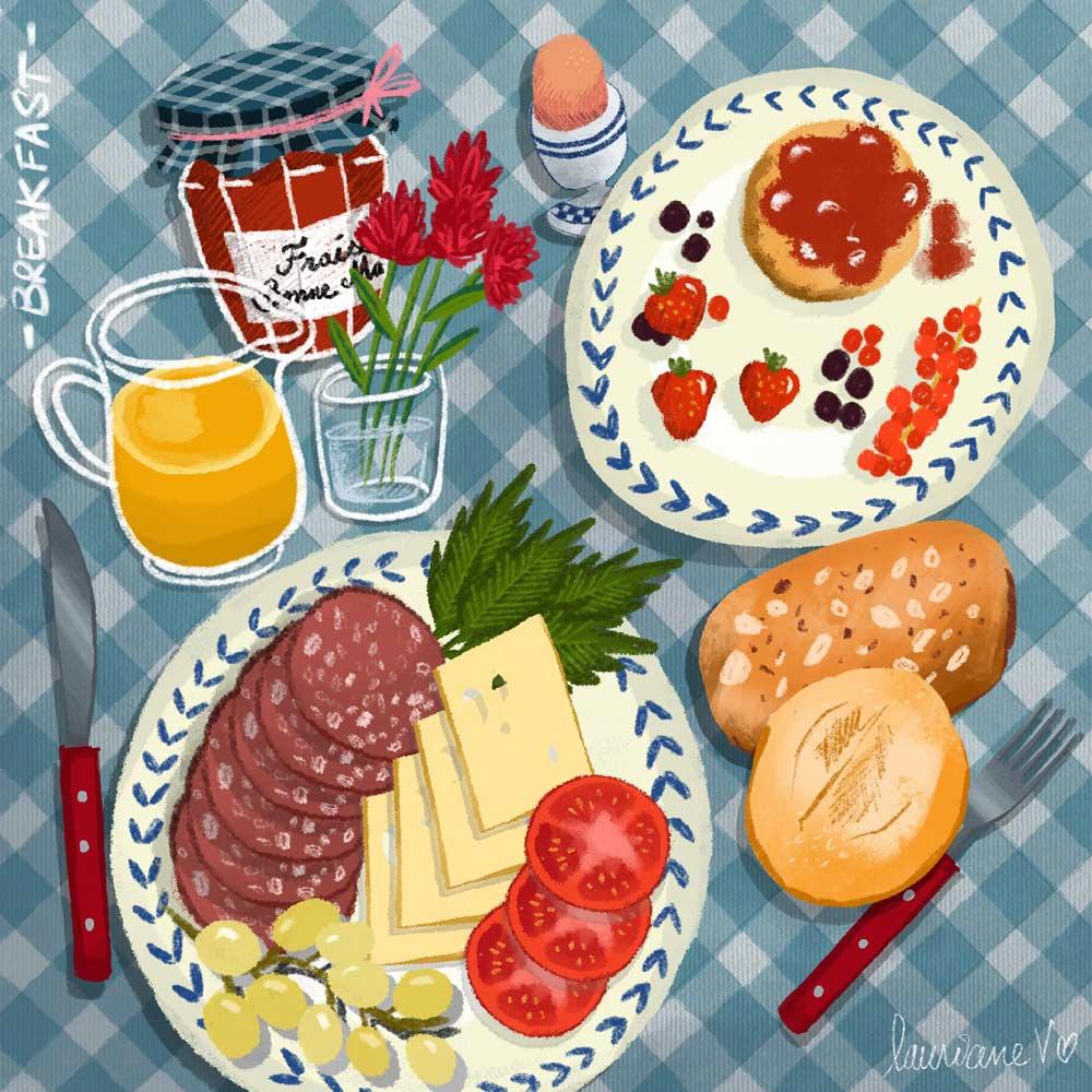 breakfast - Lauriane Vincent - image non libre de droits