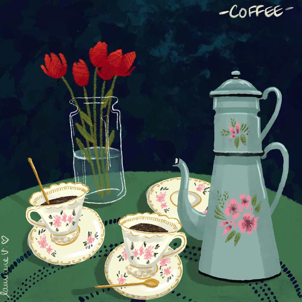 Café - Lauriane Vincent - image non libre de droits