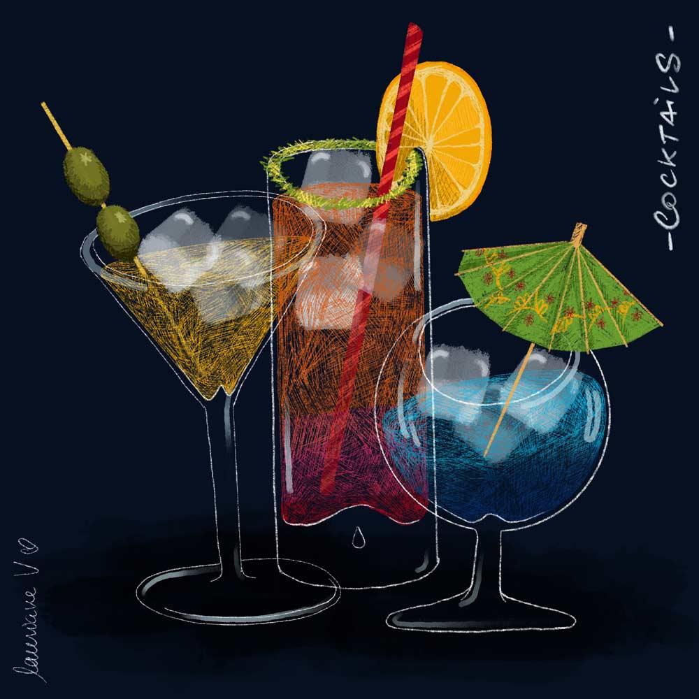 Cocktails - Lauriane Vincent - image non libre de droits