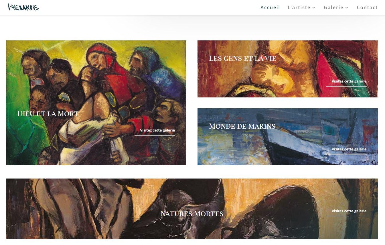 page d'accueil du site Gaston Alexandre