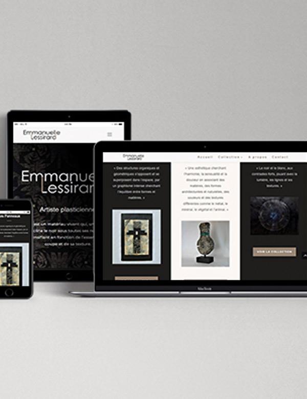 Site internet Emmanuelle Lessirard