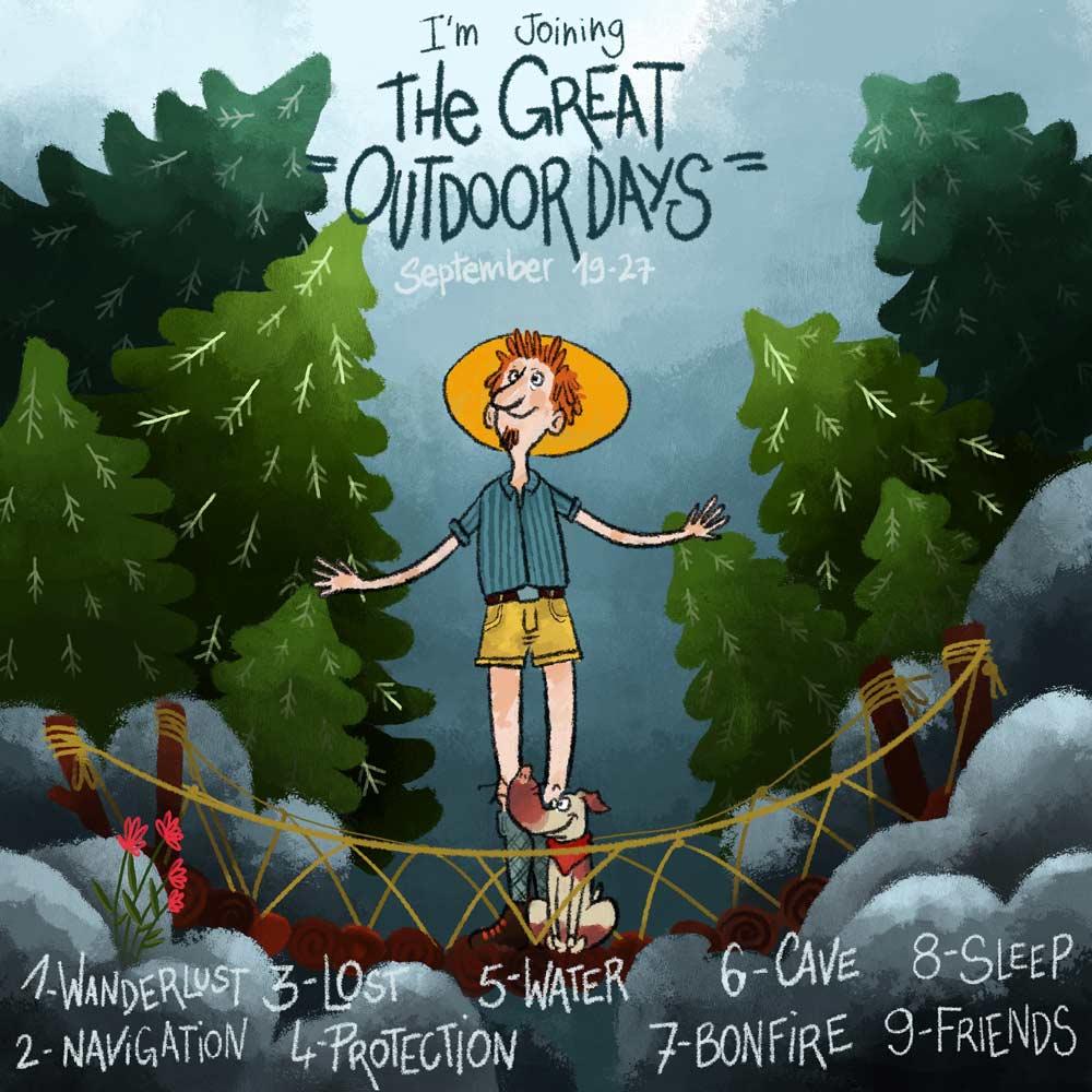 the great outdoor days - présentation - Lauriane Vincent - Non libre de droits
