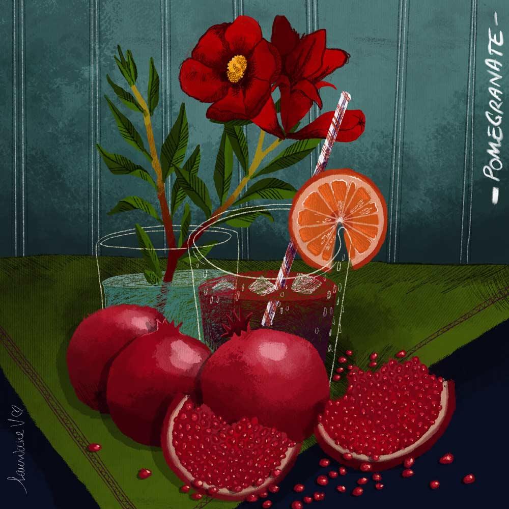 Grenades - illustration de Lauriane Vincent non libre de droits.
