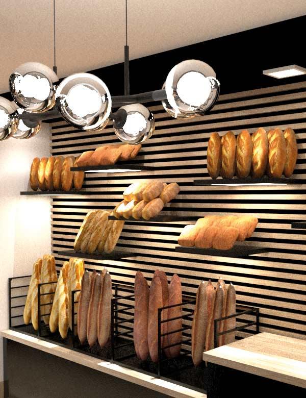 Intérieur boulangerie Paris&Co