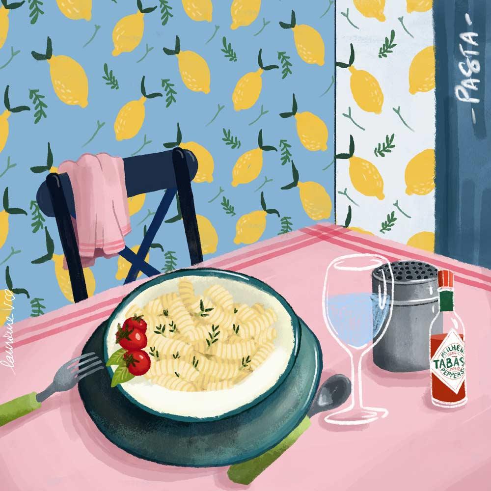 Pâtes - Lauriane Vincent - image non libre de droits