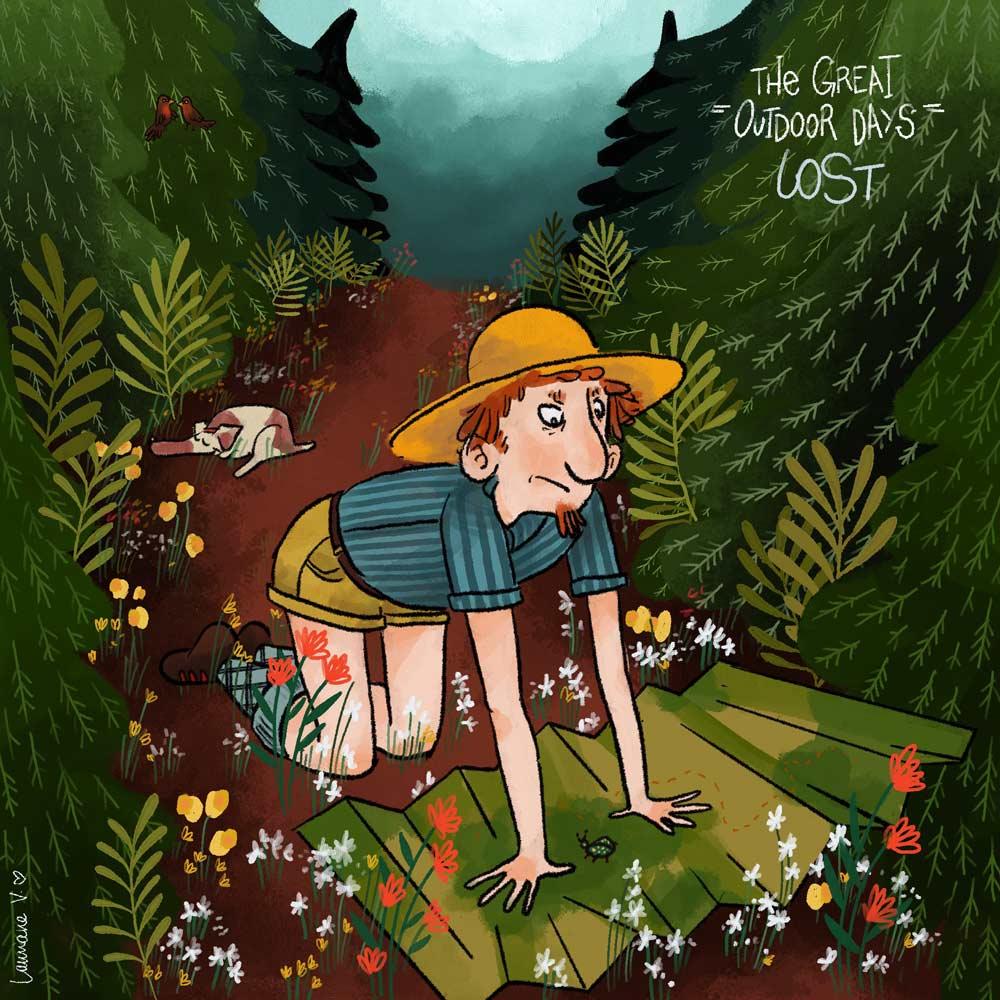 the great outdoor days - lost - Lauriane Vincent - Non libre de droits