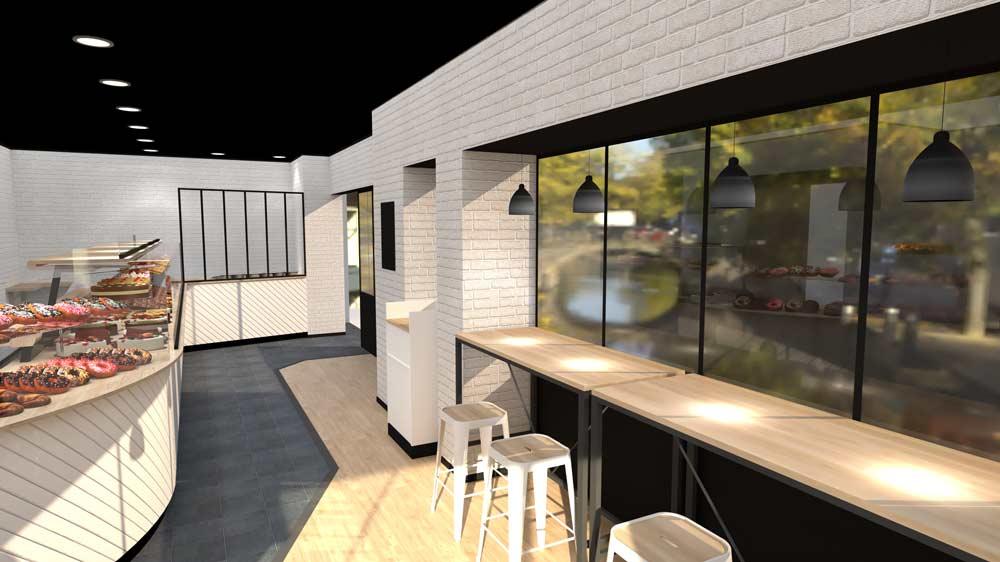 Perspective 4 boulangerie Évreux - PixeLV pour CR Agencement