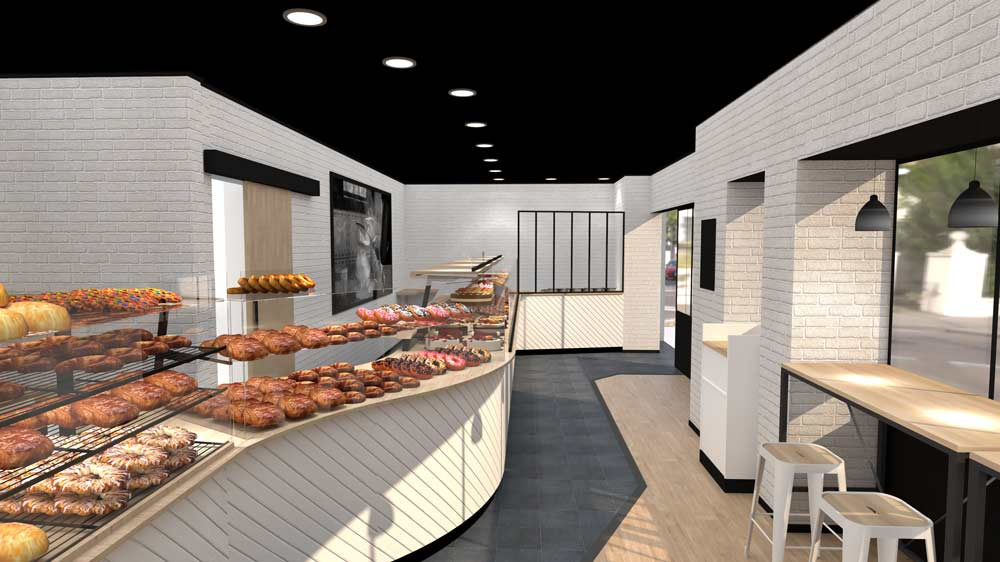 Perspective 5 boulangerie Évreux - PixeLV pour CR Agencement