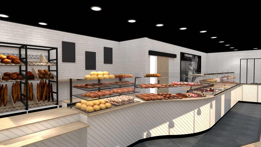 Perspective 6 boulangerie Évreux - PixeLV pour CR Agencement