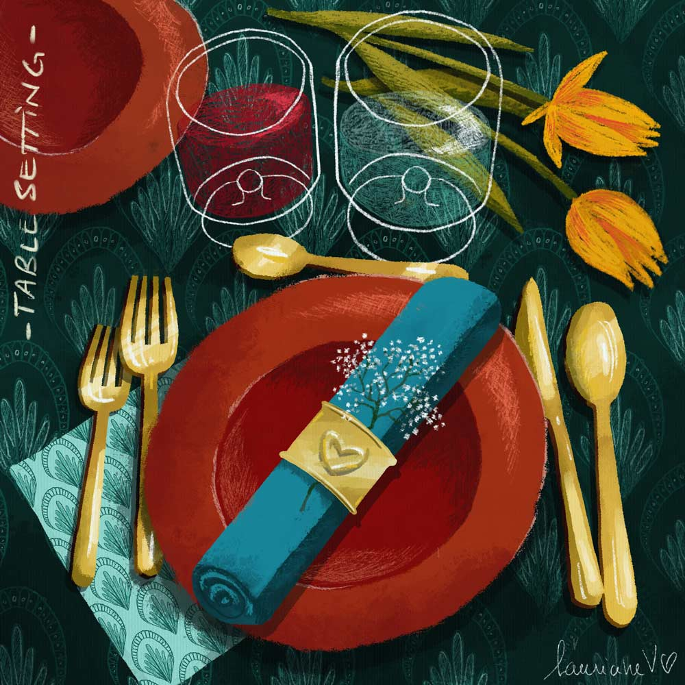 Table setting - Lauriane Vincent - image non libre de droits