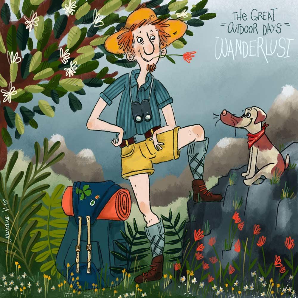 the great outdoor days - wanderlust - Lauriane Vincent - Non libre de droits