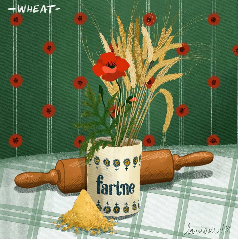 Wheat - Lauriane Vincent - image non libre de droits
