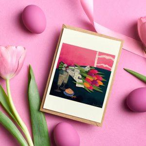 Cartes Postales Tulipes, illustration non libre de droits, de Lauriane Vincent